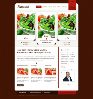 deal of the day modern restaurant website design