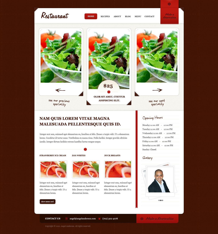 Deal of the Day! – Modern Restaurant Website Design