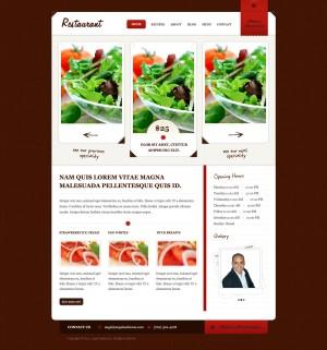 deal of the day modern restaurant website design